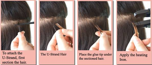 How To Apply U Strand Hair Extensions 1